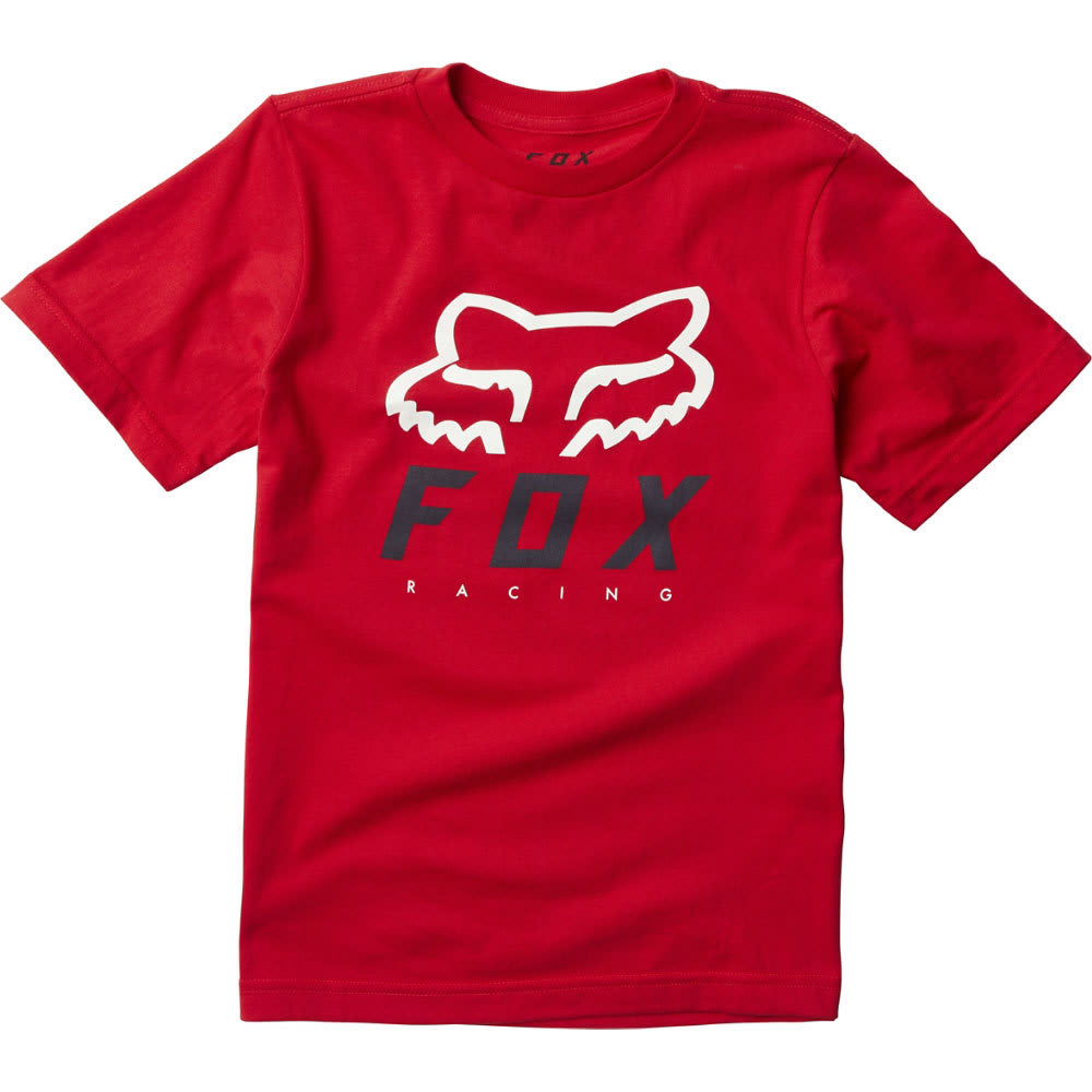 FOX Boys' Heritage Forger Tee - 055-RED/BLACK
