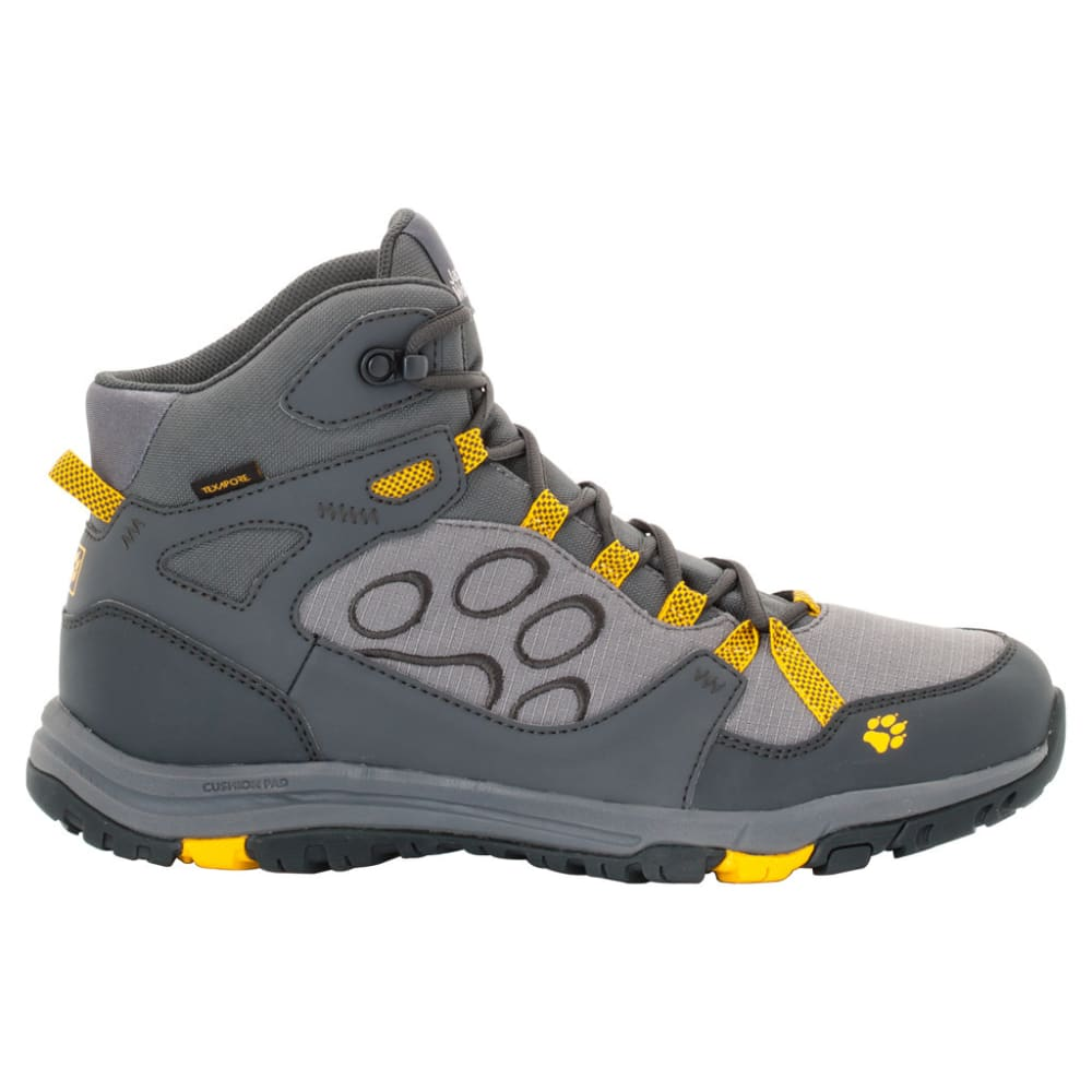 JACK WOLFSKIN Men's Activate Mid Texapore Waterproof Hiking Boots - 3802-BURLY YELLOW