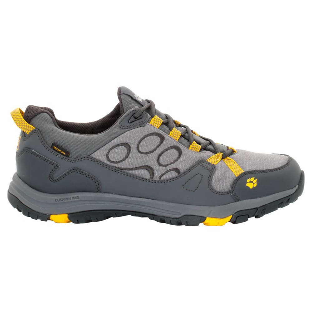 JACK WOLFSKIN Men's Activate Low Texapore Waterproof Low Hiking Shoes - 3802-BURLY YELLOW
