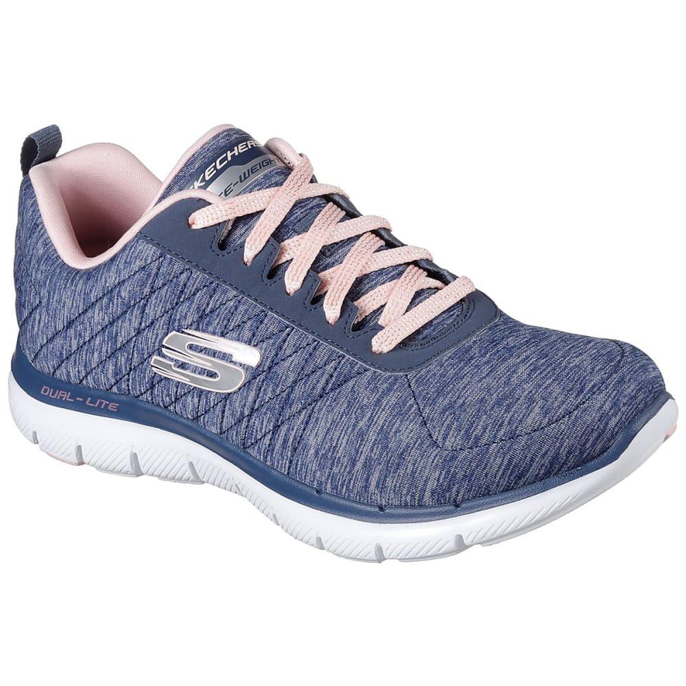 SKECHERS Women's Flex Appeal 2.0 Training Shoes, Wide - NAVY-NVY