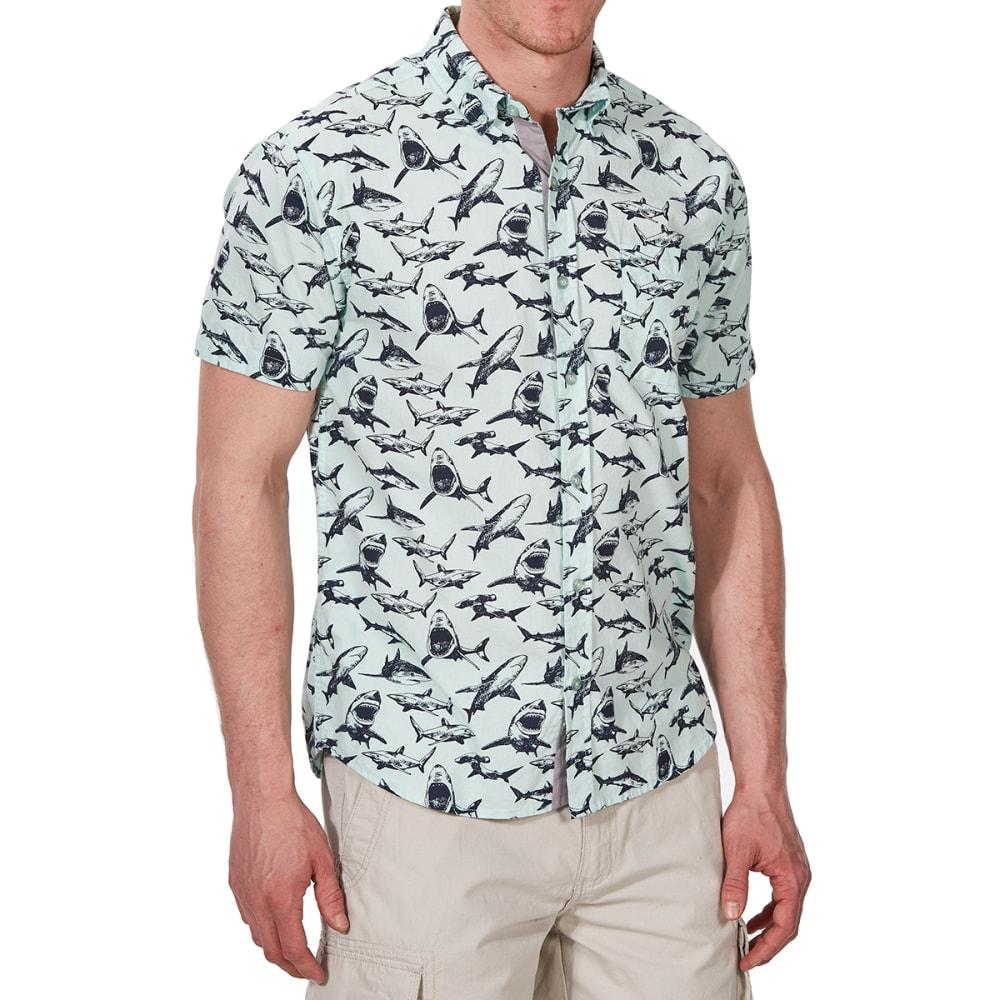 ALPHA BETA Guys' Printed Woven Short-Sleeve Shirt S