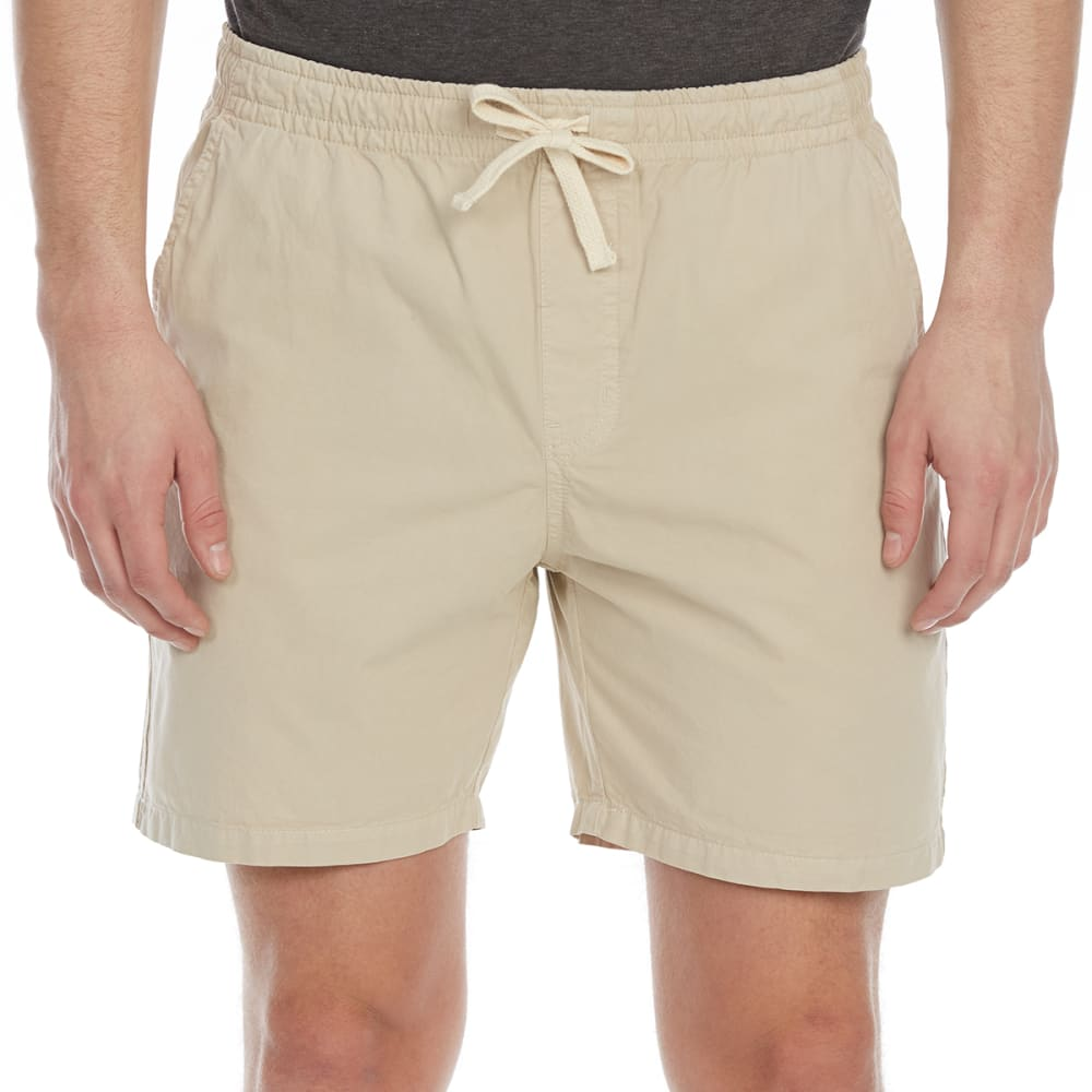 ARTISTRY IN MOTION Guys' Solid Twill Shorts - STONE