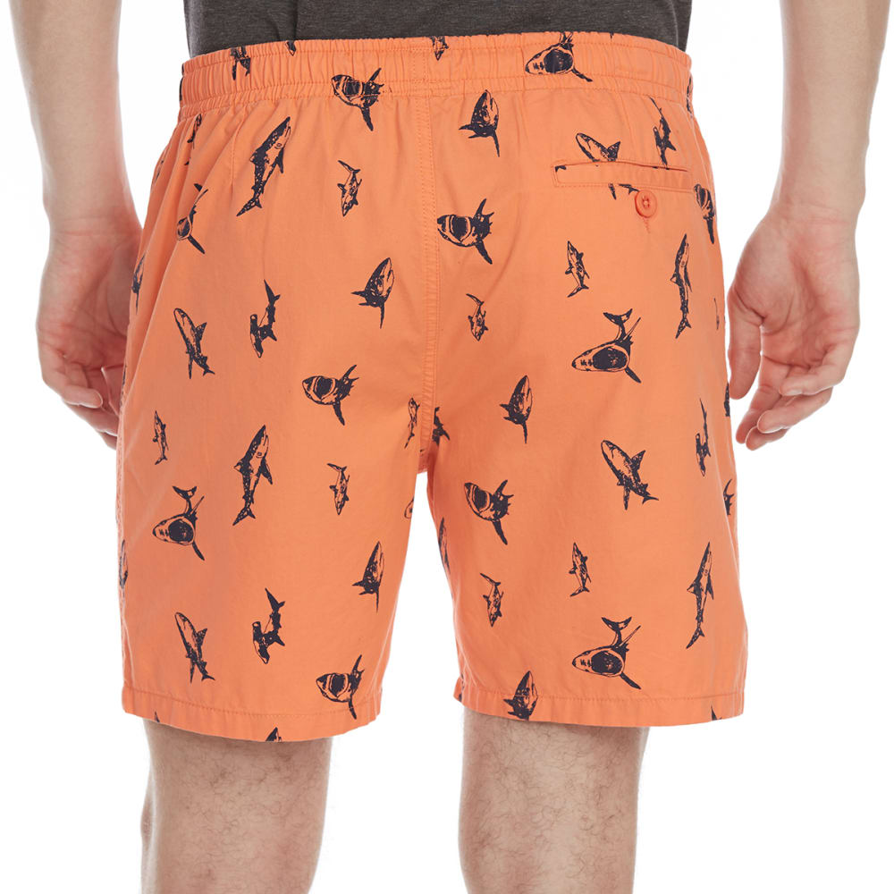 ARTISTRY IN MOTION Guys' Print Twill Shorts - MP45-SHARKS SALMON