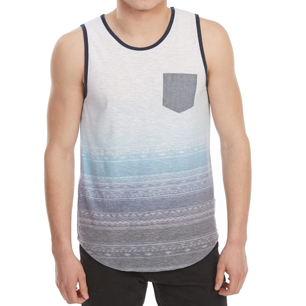 OCEAN CURRENT Guys' Woodland Print Tank Top - WHITE