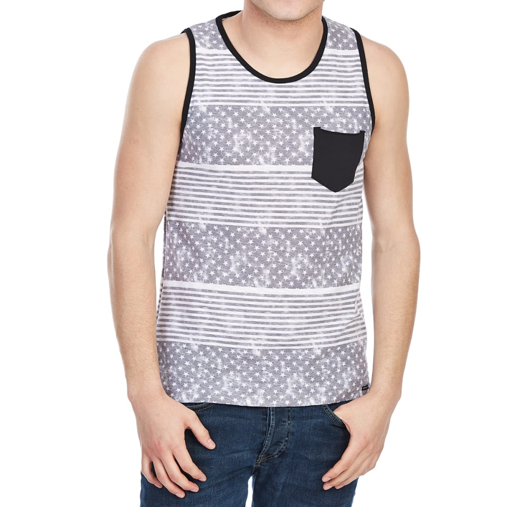 OCEAN CURRENT Guys' Stars and Stripes Pocket Tank - BLACK