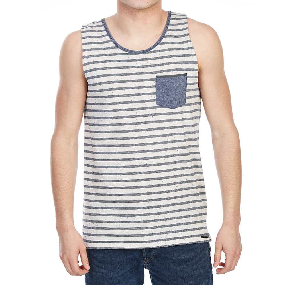 OCEAN CURRENT Guys' Newcastle Stripe Pocket Tank - OATMEAL HEATHER