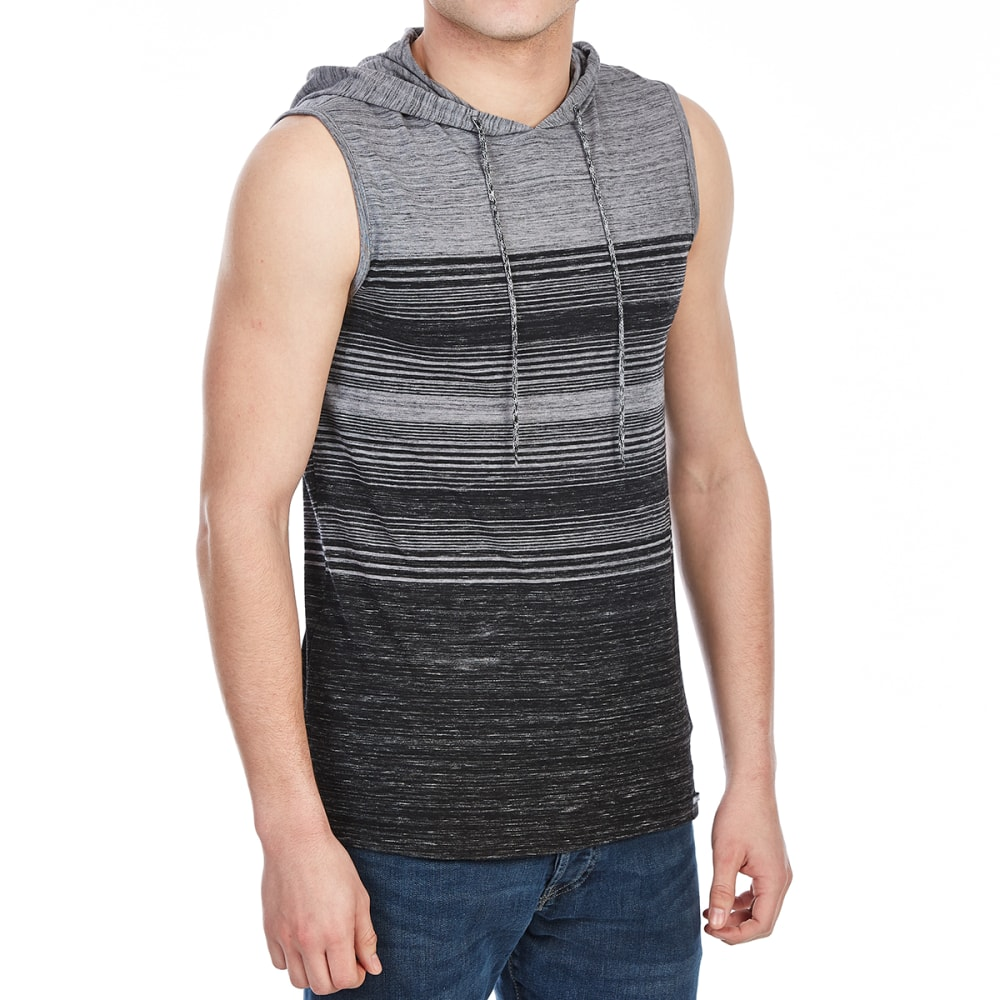 OCEAN CURRENT Guys' Cortez Stripe Hooded Tank - BLACK