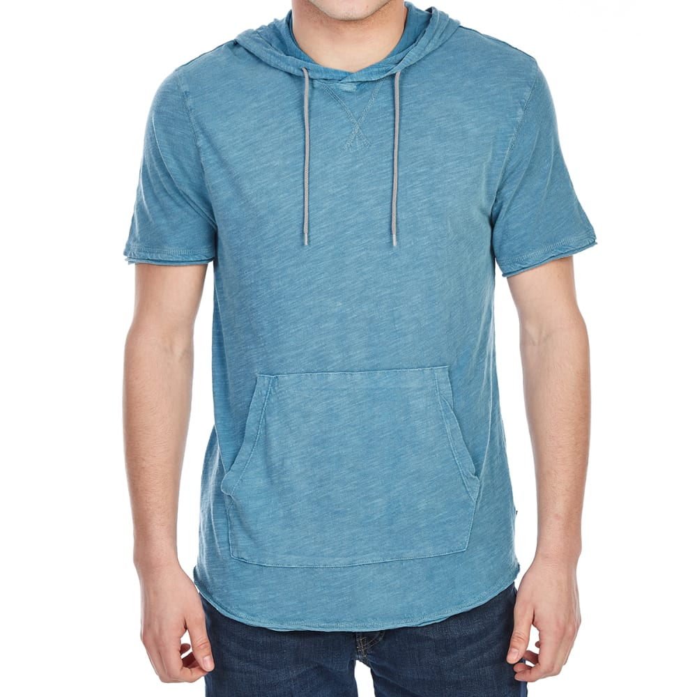 OCEAN CURRENT Guys' Won Slub Hooded Short-Sleeve Shirt - DEEP SEA