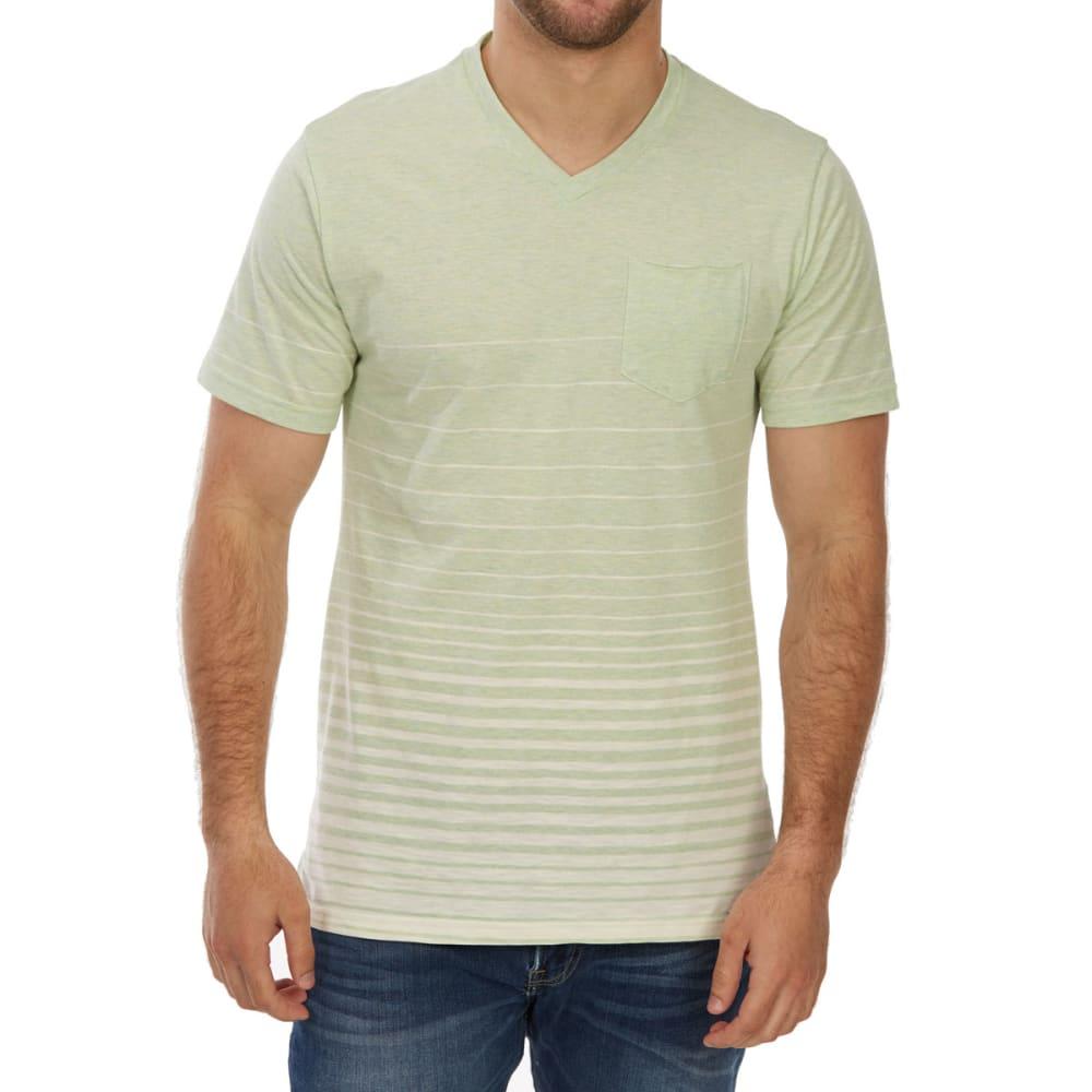OCEAN CURRENT Guys' Mac Stripe V-Neck Short-Sleeve Tee - COVE