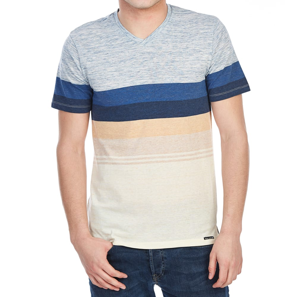 OCEAN CURRENT Guys' Joey Marled V-Neck Tee - CREAM