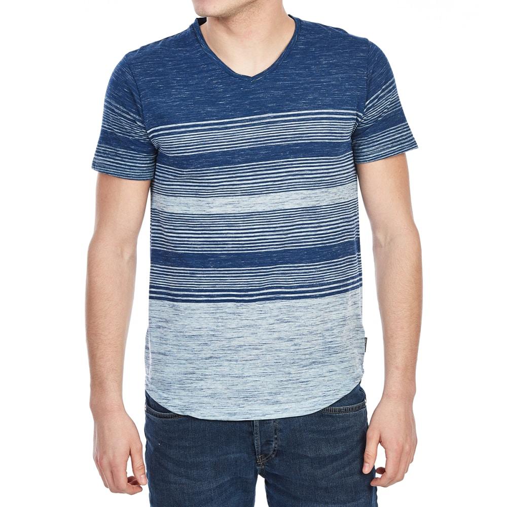 OCEAN CURRENT Guys' Ollie Textured V-Neck Tee - MIDNIGHT