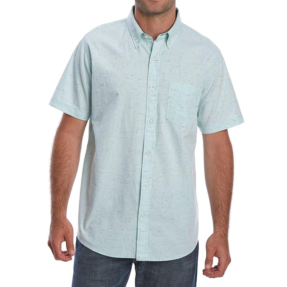 Ocean Current Guys' Macaw Poplin Short-Sleeve Shirt - Blue, S