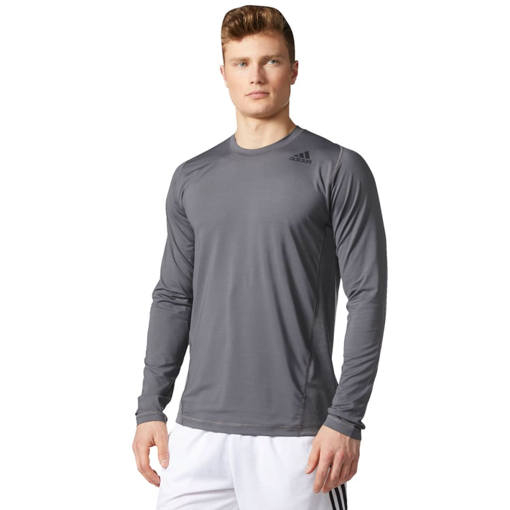 ADIDAS Men's U-Tec Long-Sleeve Tee - GREY-CE7695