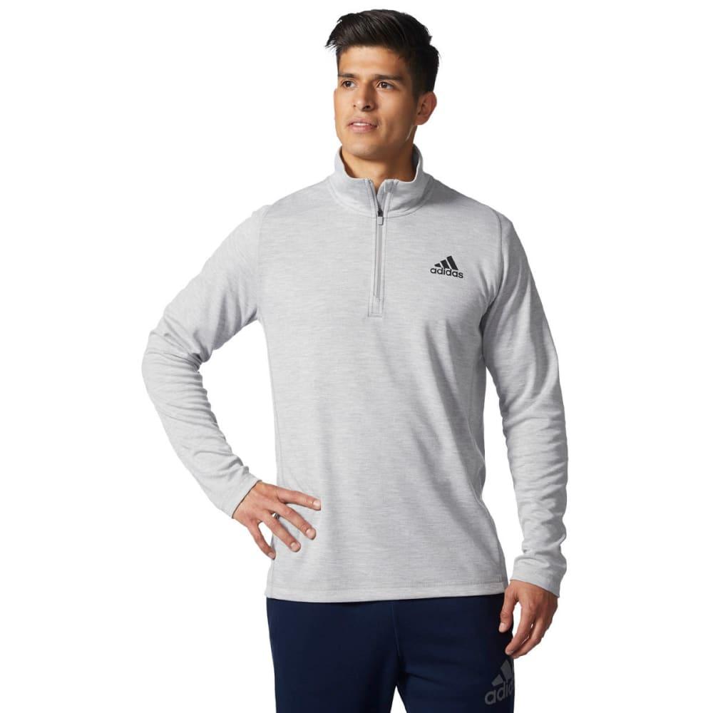 ADIDAS Men's 1st Quarter-Zip Long-Sleeve Pullover - MEDIUM GREY-CF1958