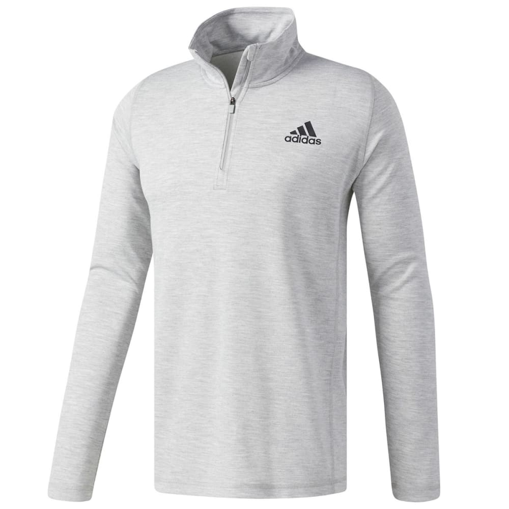 Adidas Men's 1St Quarter-Zip Long-Sleeve Pullover - Black, L
