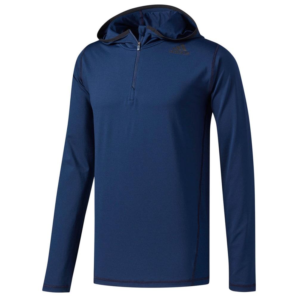 Adidas Men's U-Tec  1/4-Zip Hoodie - Blue, L