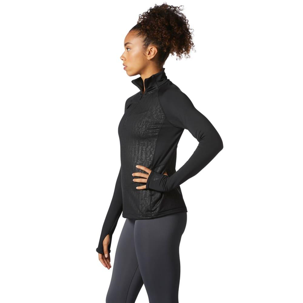 ADIDAS Women's TechFit ClimaWarm ½-Zip Pullover - BLACK-BQ9856