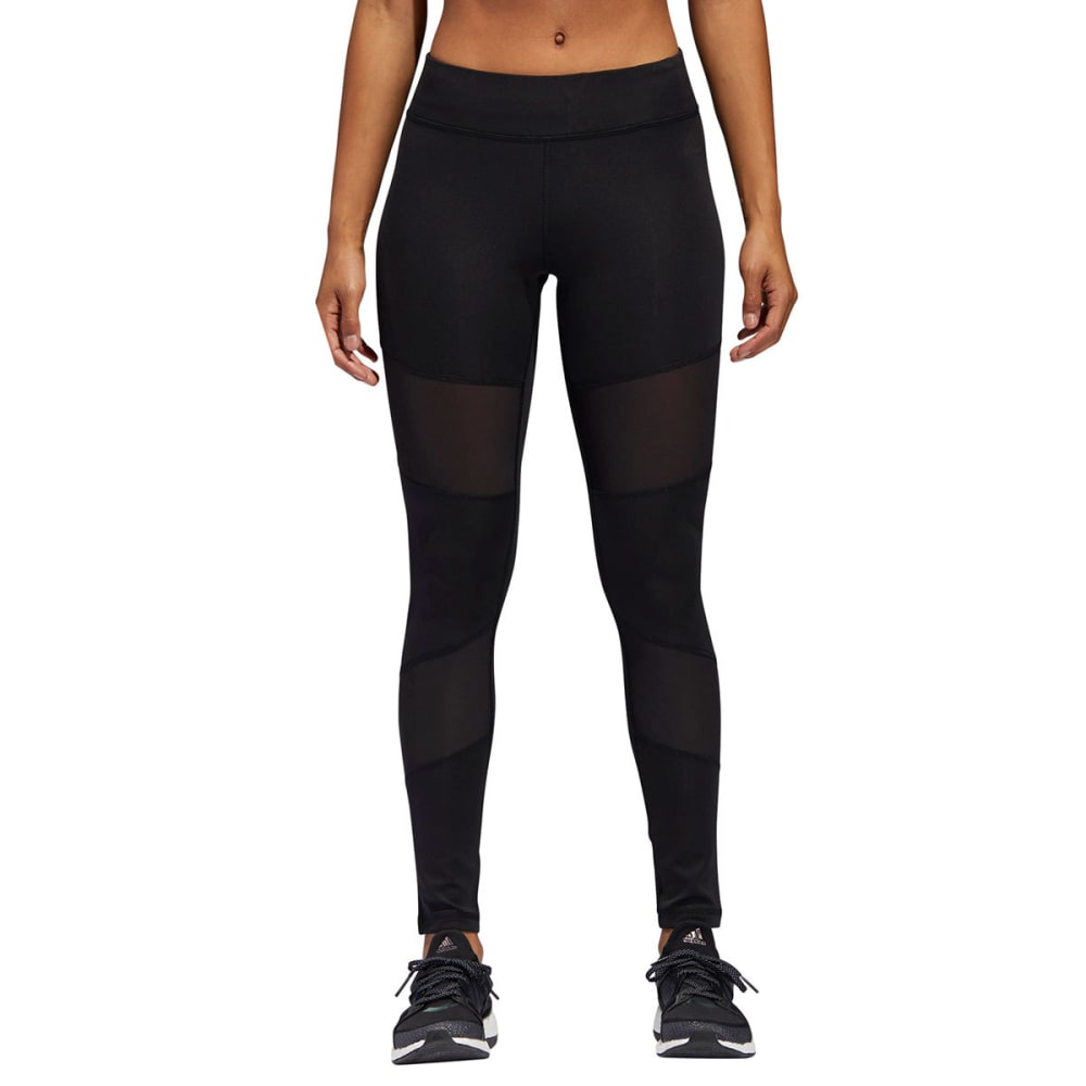 ADIDAS Women's Mix Mesh Leggings - BLACK-CD5314