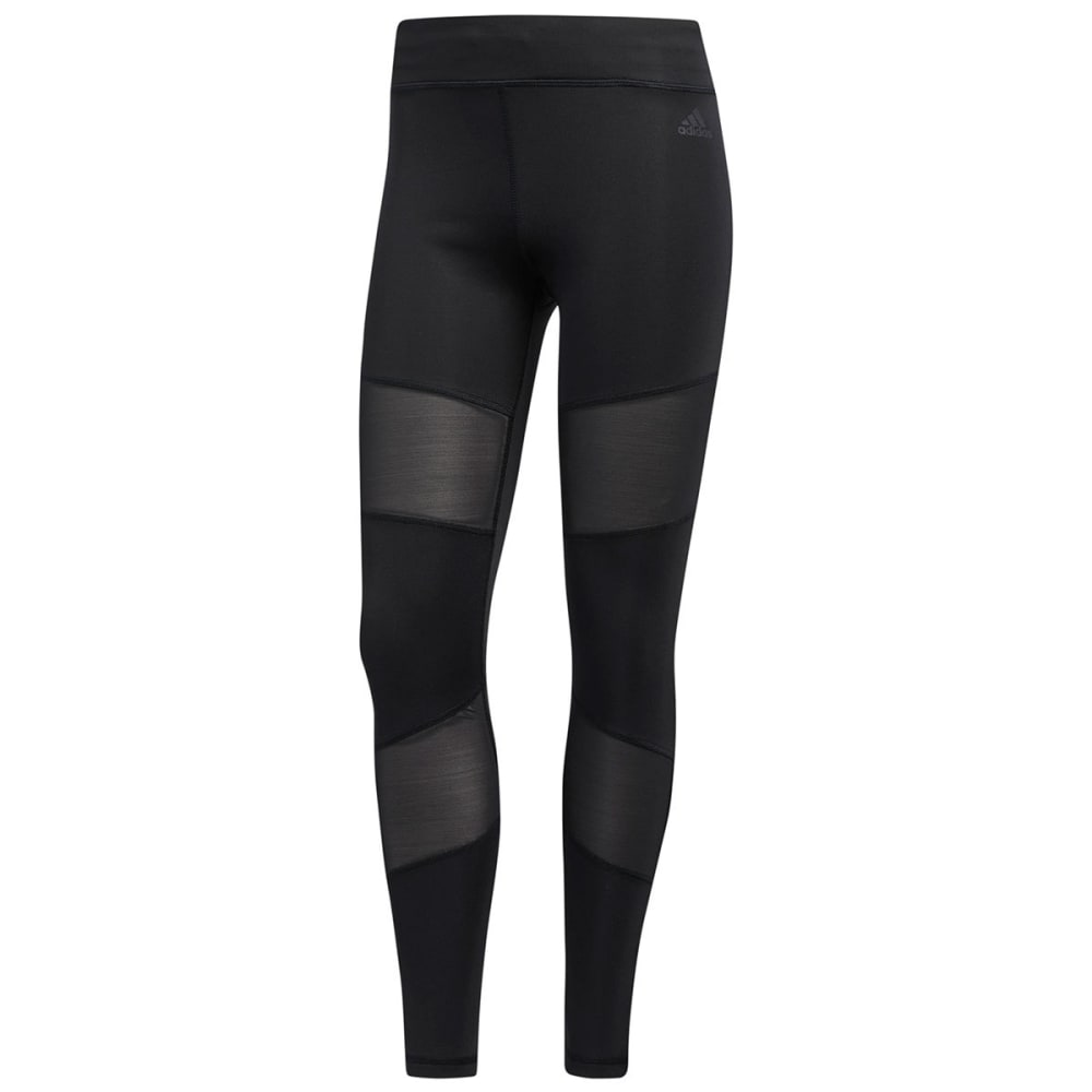 Adidas Women's Mix Mesh Leggings - Black, S