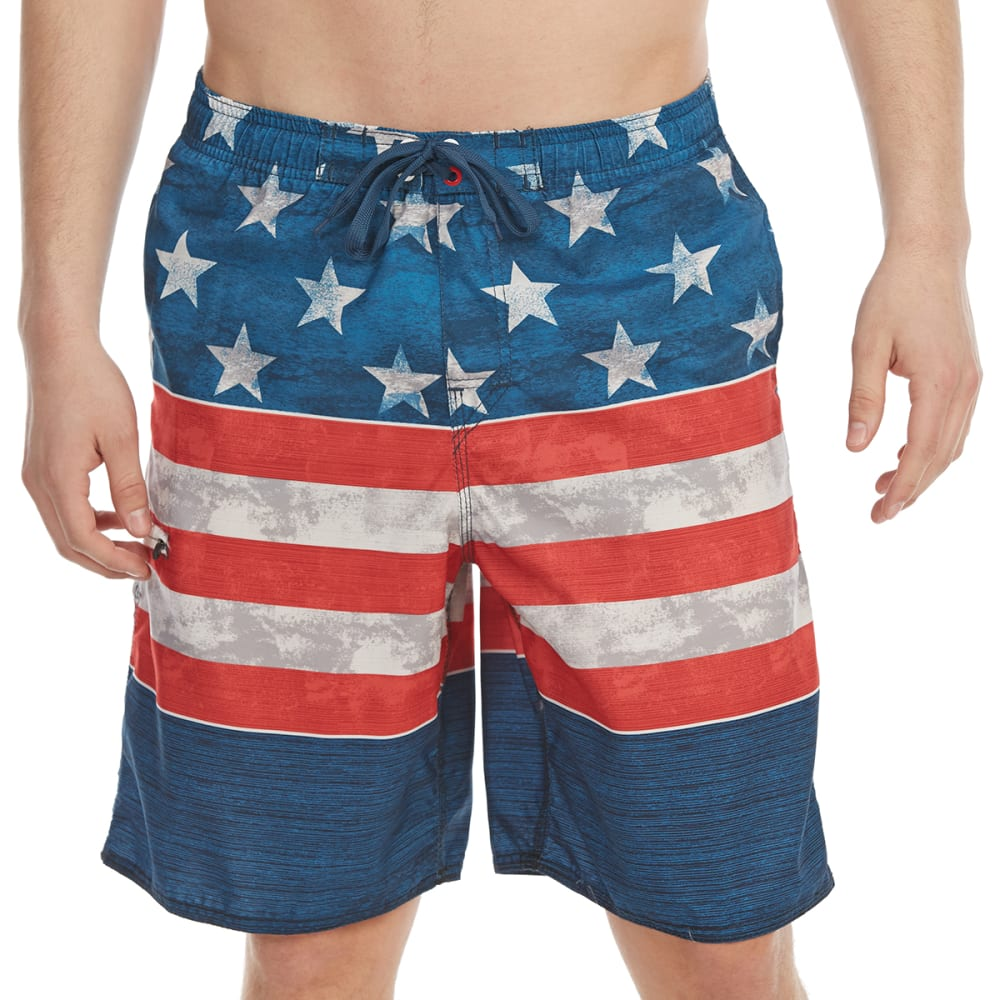 dbe4efd5e9e20 BURNSIDE Guys' Americana E-Board Shorts - NAVY