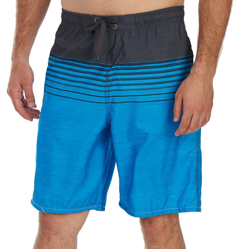 Burnside Guys' Forever Number One E-Board Shorts - Blue, M