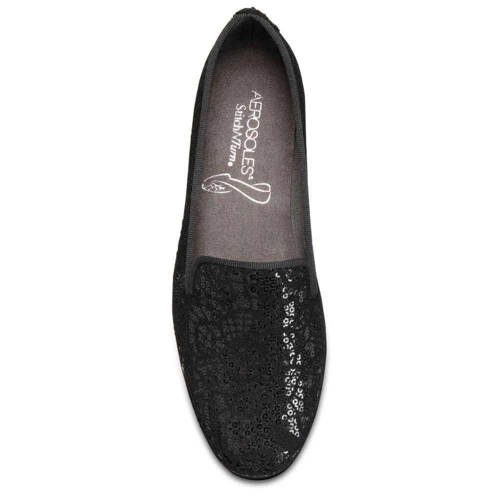 AEROSOLES Women's Betunia Casual Slip-On Shoes - BLACK VELVET -018