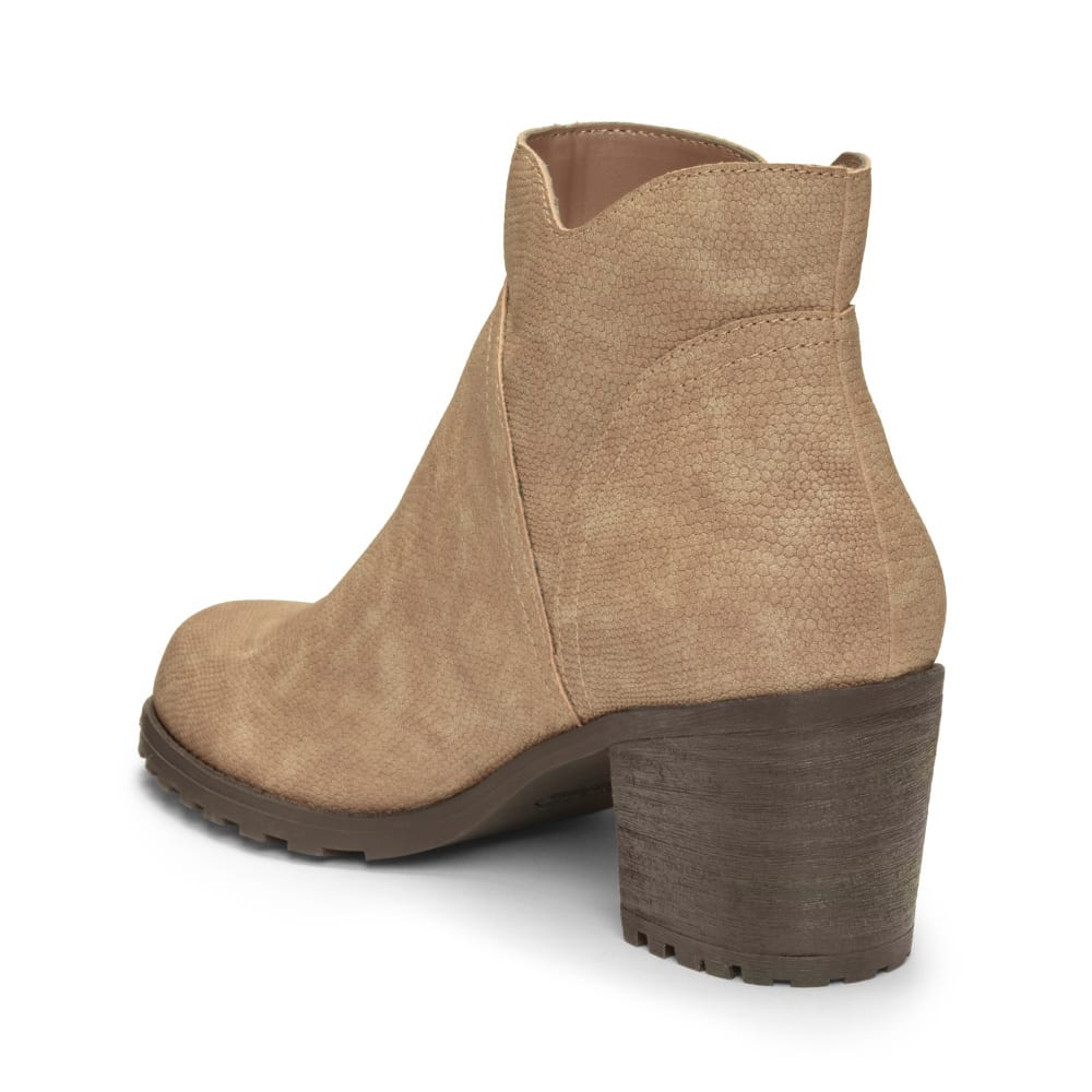 AEROSOLES Women's Convincing Ankle Booties - TAUPE SNAKE -772