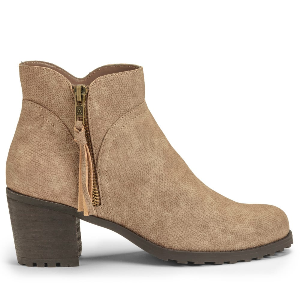 AEROSOLES Women's Convincing Ankle Booties, Wide - TAUPE-772