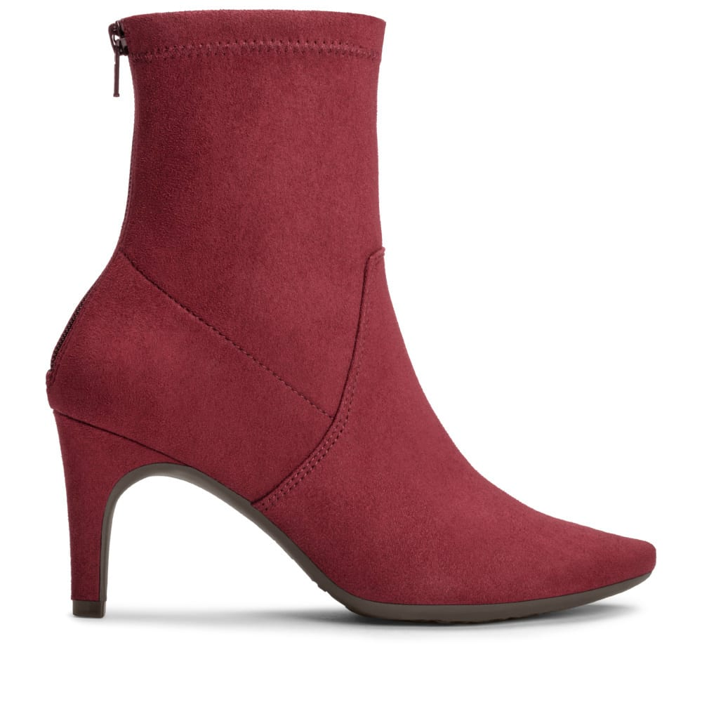 AEROSOLES Women's Excess Ankle Boots - WINE-534