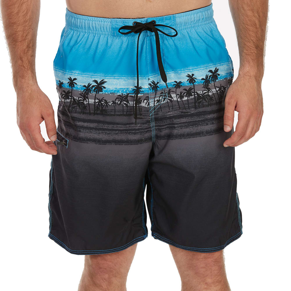 BURNSIDE Guys' Island Hopper E-Board Shorts - BLACK