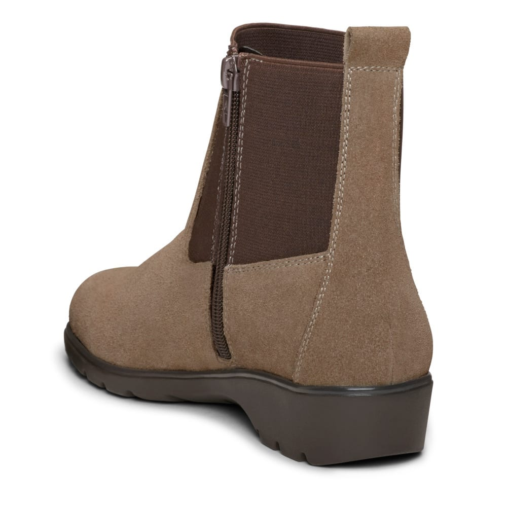 AEROSOLES Women's Madison Ankle Boots, Wide - TAUPE-298