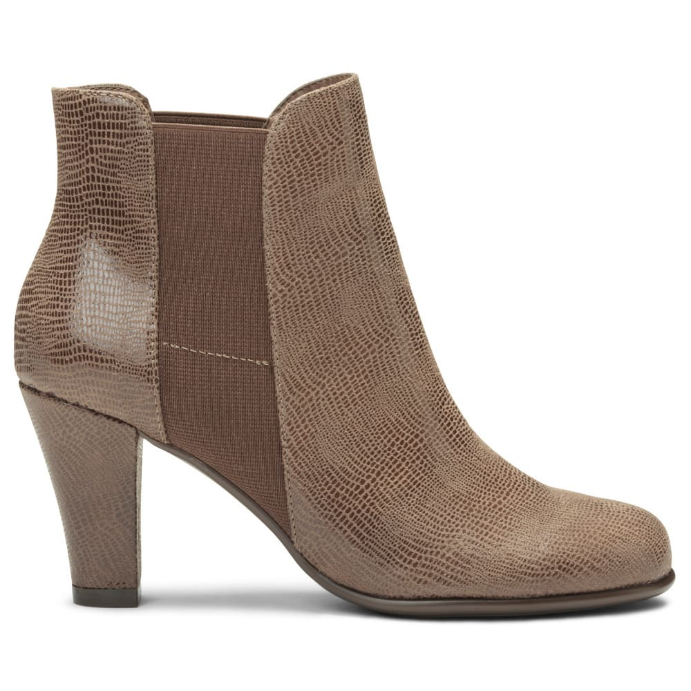 AEROSOLES Women's Strole Along Booties - TAUPE-772