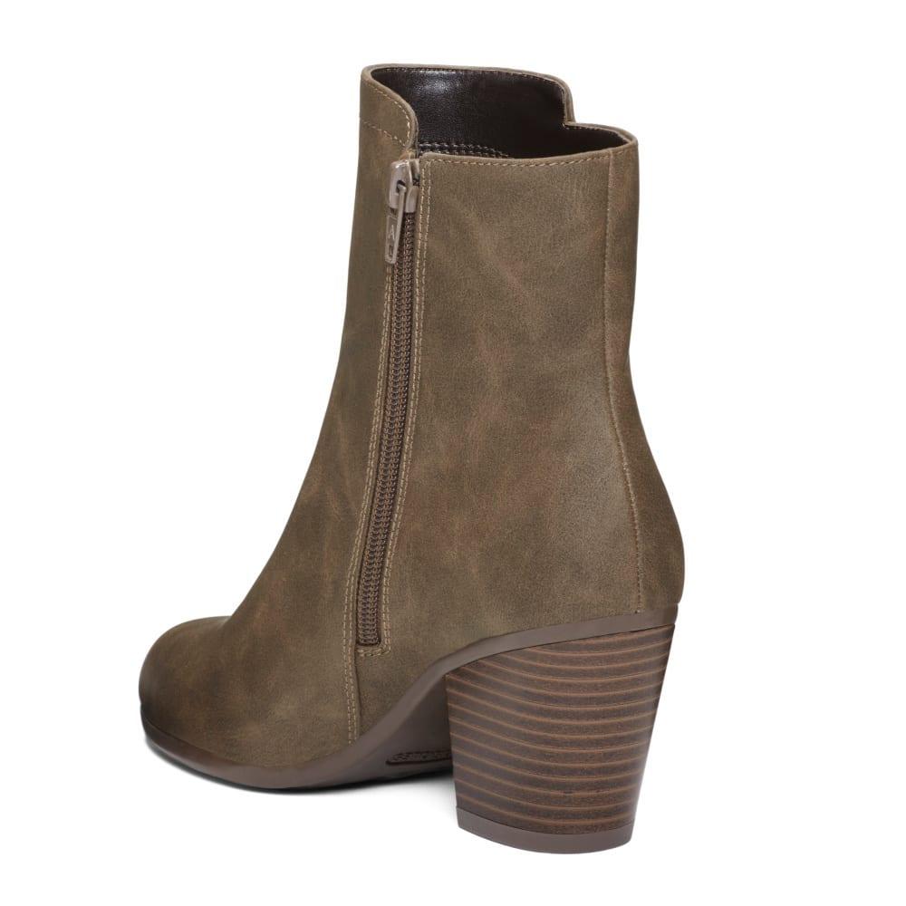 AEROSOLES Women's Vitality Ankle Boots - MUSHROOM-984