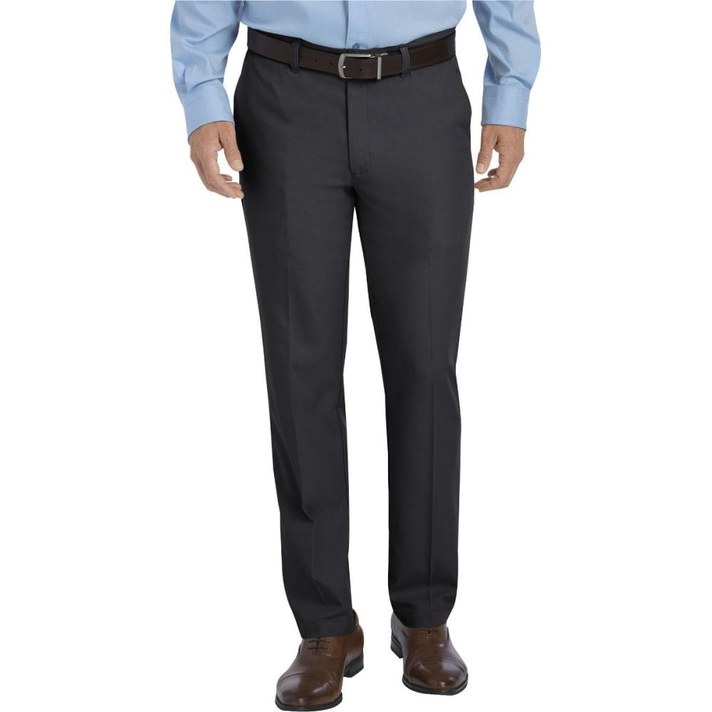 Dickies Men's Dickies Khaki Flat Front Microfiber Pant - Black, 30/32