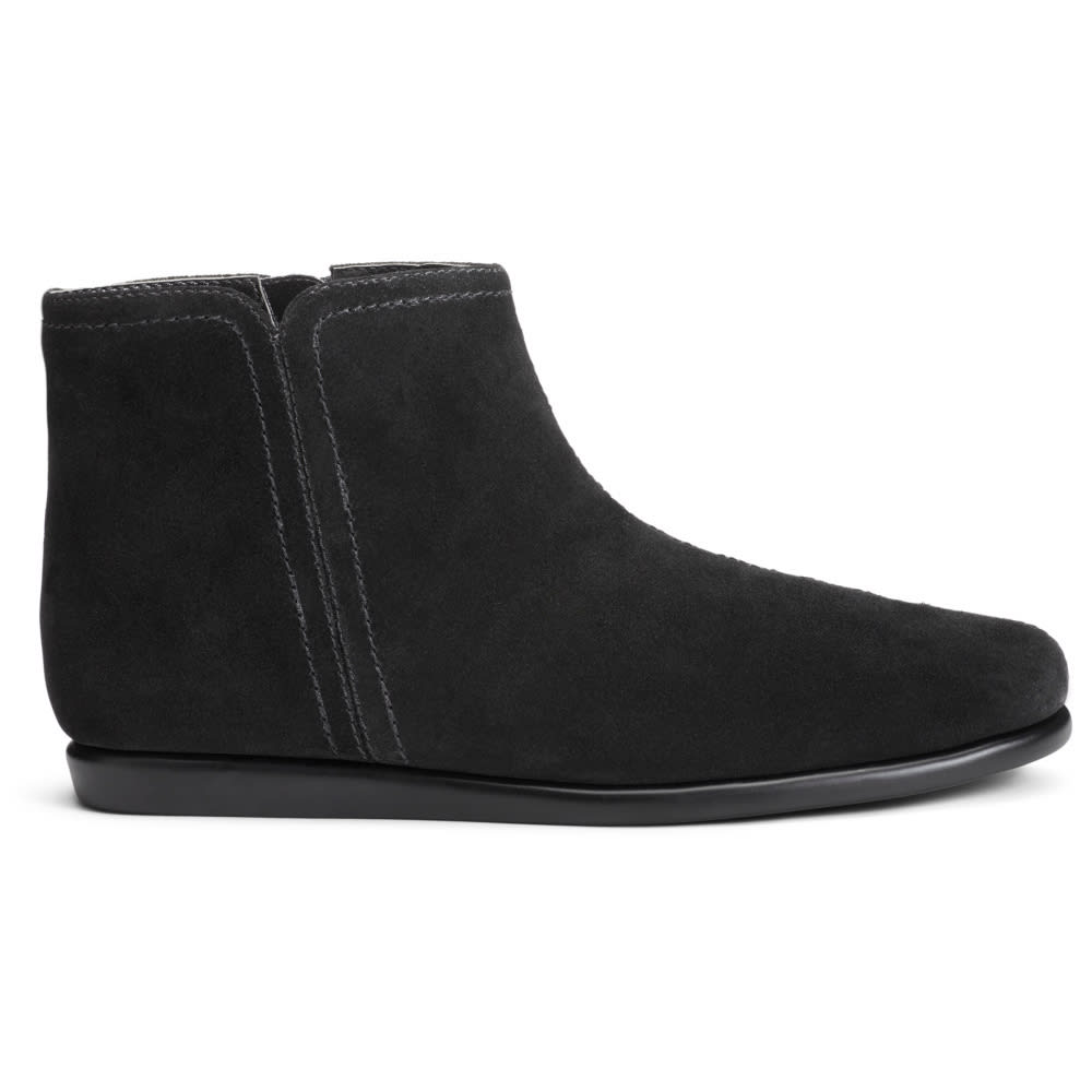 AEROSOLES Women's Willingly Flat Ankle Boots - BLACK SUEDE-004