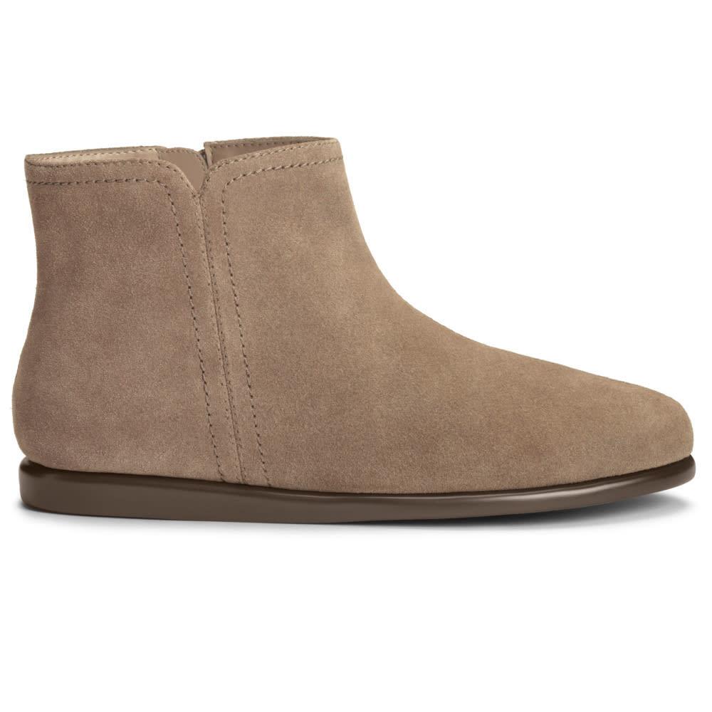 AEROSOLES Women's Willingly Flat Ankle Boots, Wide - MUSHROOM-984