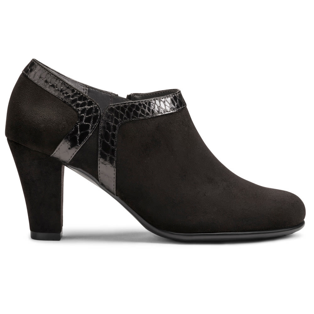 AEROSOLES Women's Day Strole Booties - BLACK SNAKE-086