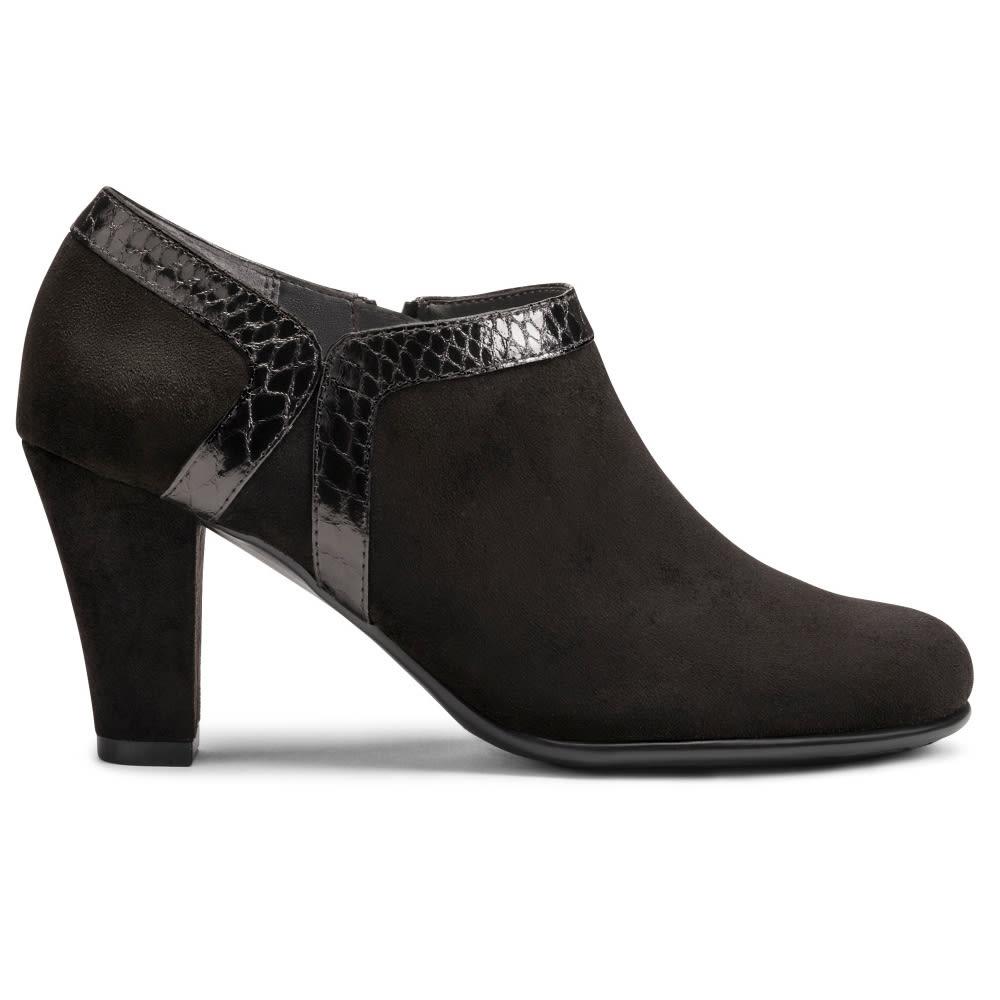 AEROSOLES Women's Day Strole Booties - BLACK SNAKE-086