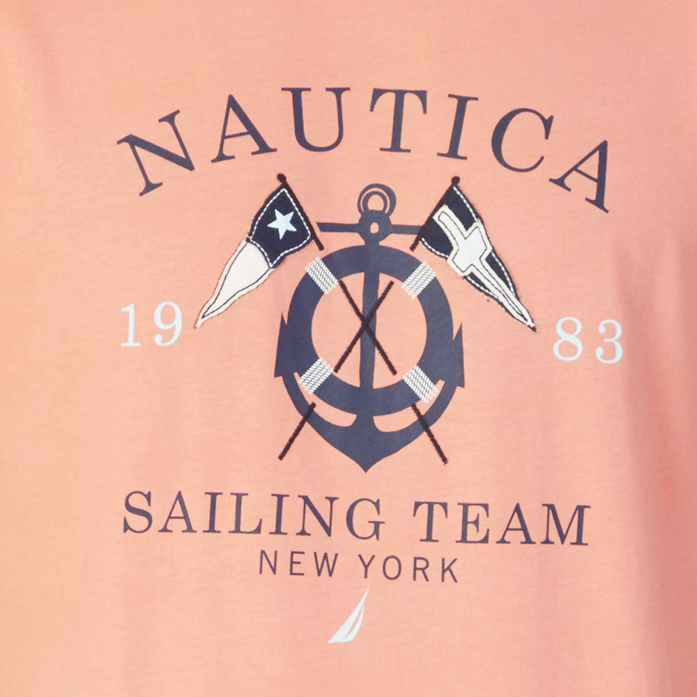 NAUTICA Men's Sailing Graphic Short-Sleeve Tee - PALE CORAL-64C