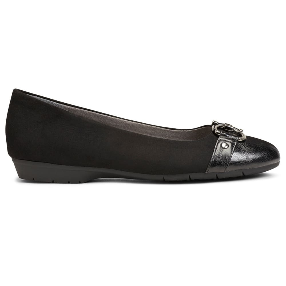 AEROSOLES Women's Ultrabrite Flats - BLACK-095