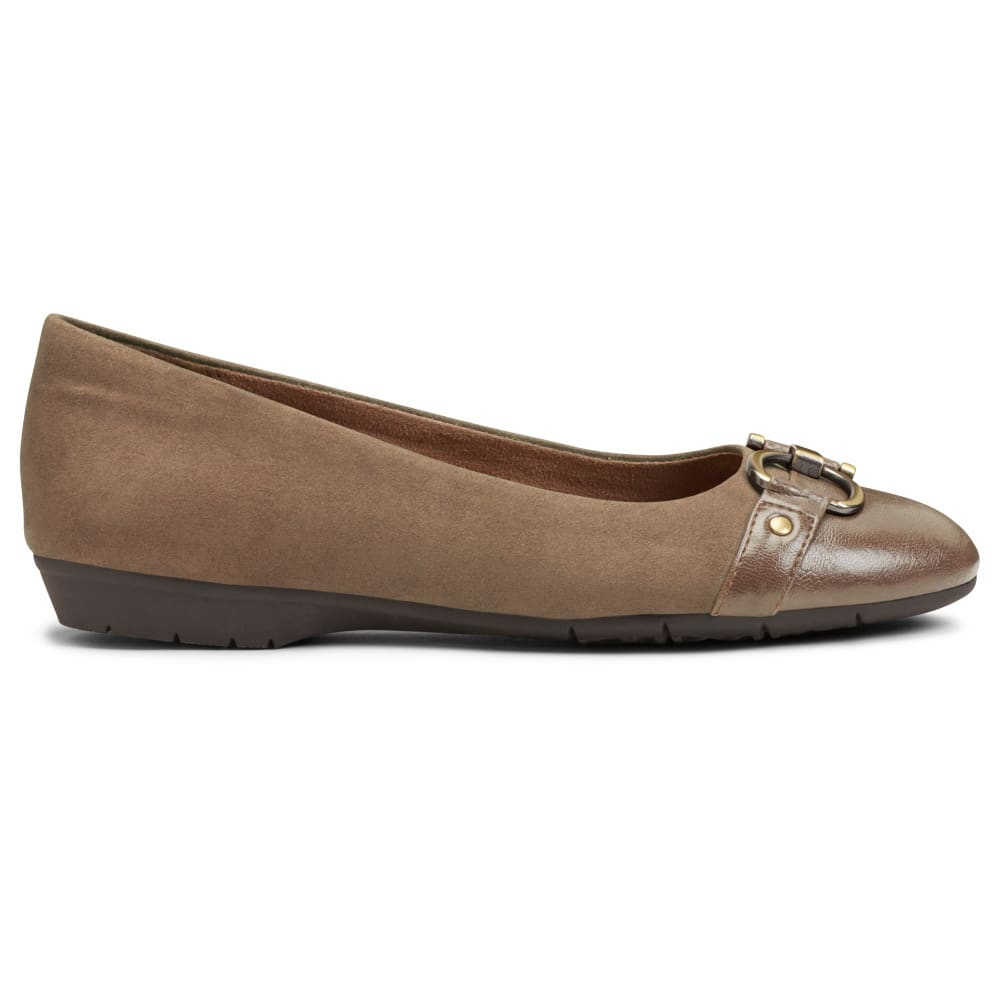 AEROSOLES Women's Ultrabrite Flats - TAUPE-181