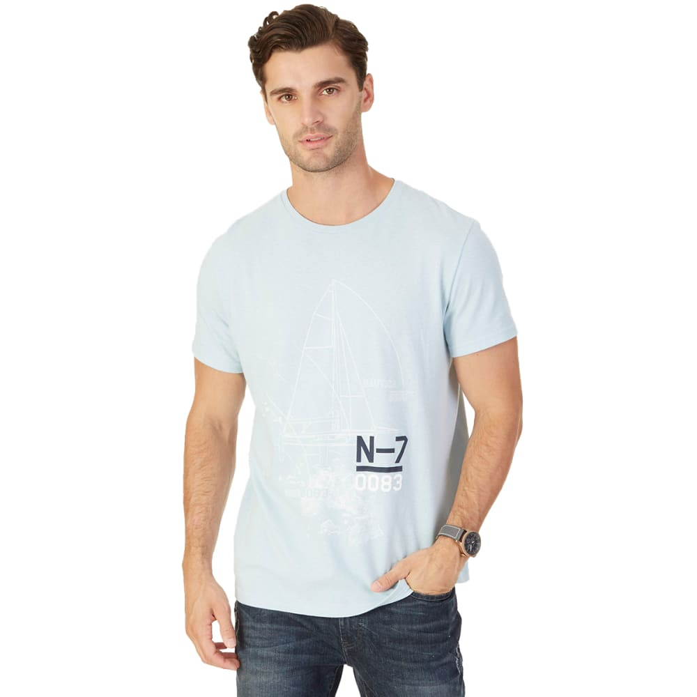 Nautica Men's N-7 0083 Ship Graphic Short-Sleeve Tee - Blue, M