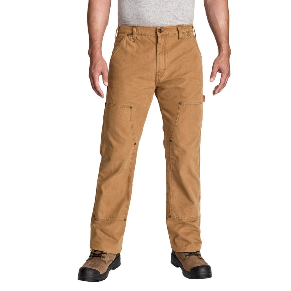 DICKIES Men's Relaxed Fit Straight Leg Double Front Duck Work Pant - RNSD BROWN DUCK-RBD