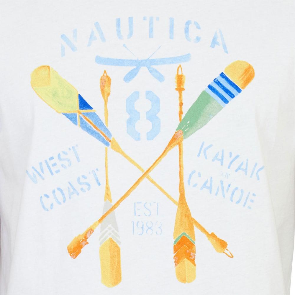 NAUTICA Men's Kayak Canoe Crew Graphic Tee - WHITE-1BW