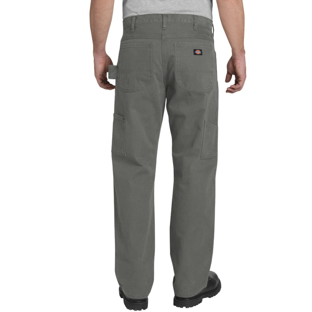 DICKIES Men's Relaxed Fit Straight Leg Double Front Duck Pant - RNSD SLATE-RSL