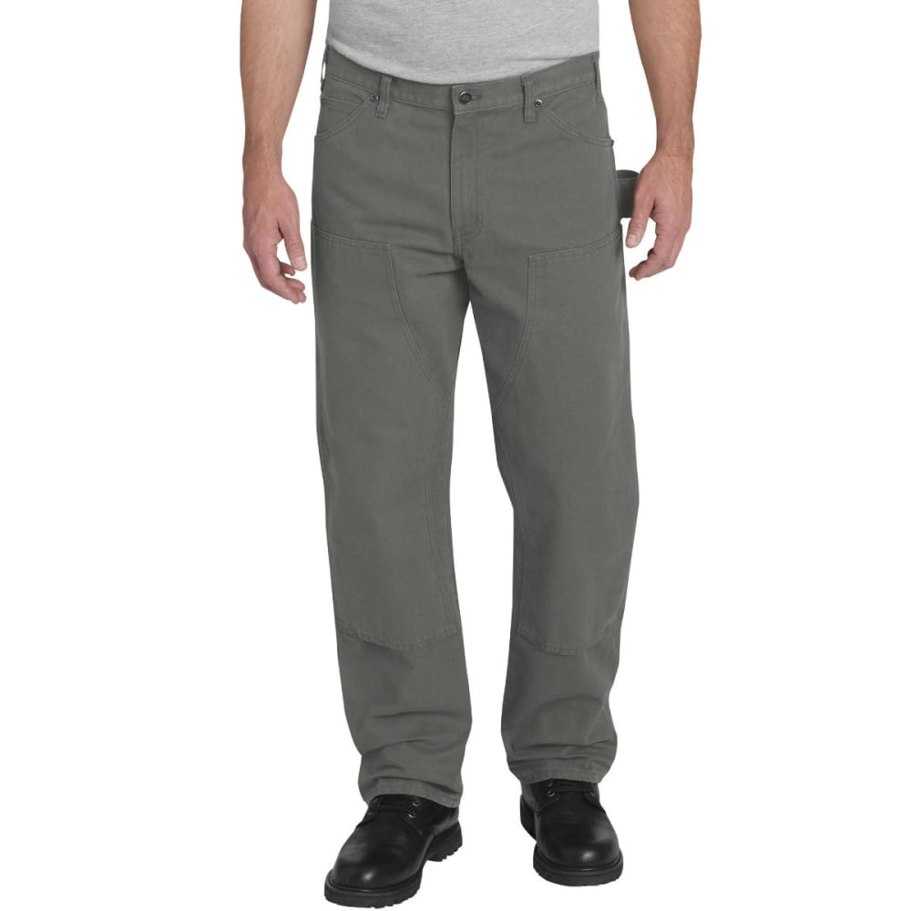 Dickies Men's Relaxed Fit Straight Leg Double Front Duck Pant - Black, 30/30