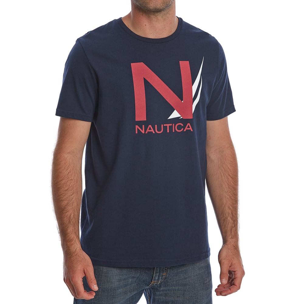 Nautica Men's Heritage Graphic Short-Sleeve Tee - Blue, M