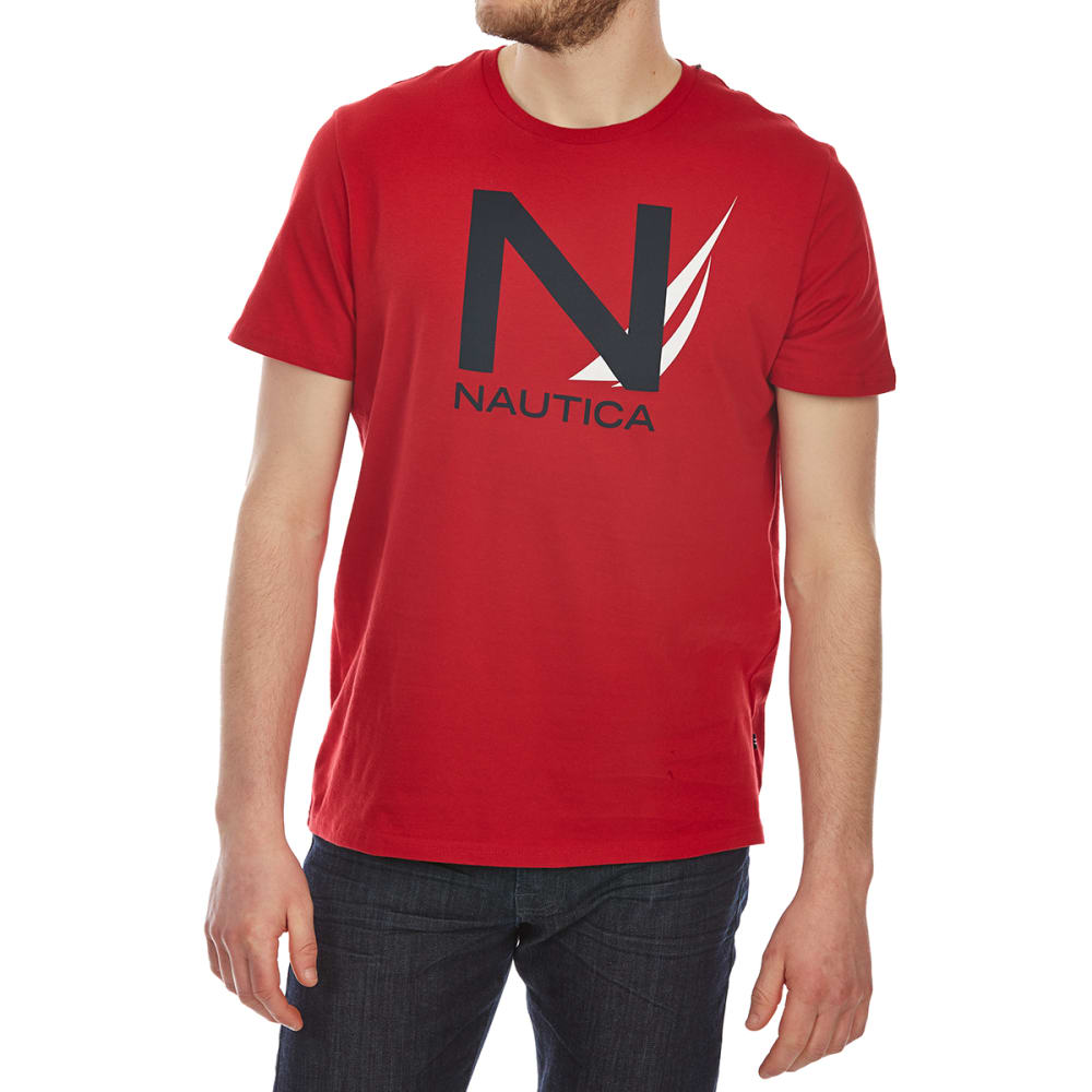NAUTICA Men's Heritage Graphic Short-Sleeve Tee - NAUTICAL RED-6NR