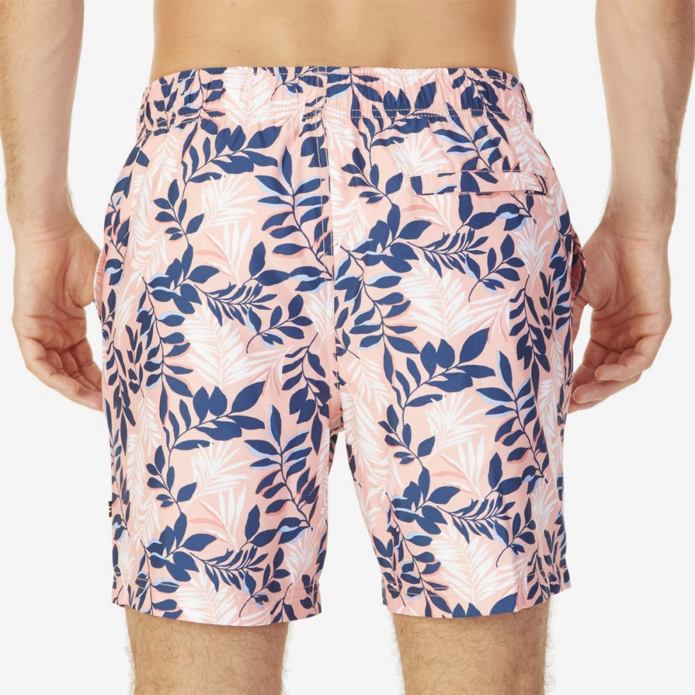 NAUTICA Men's Quick-Dry Floral Print Swim Trunks - CORAL SANDS-8CZ