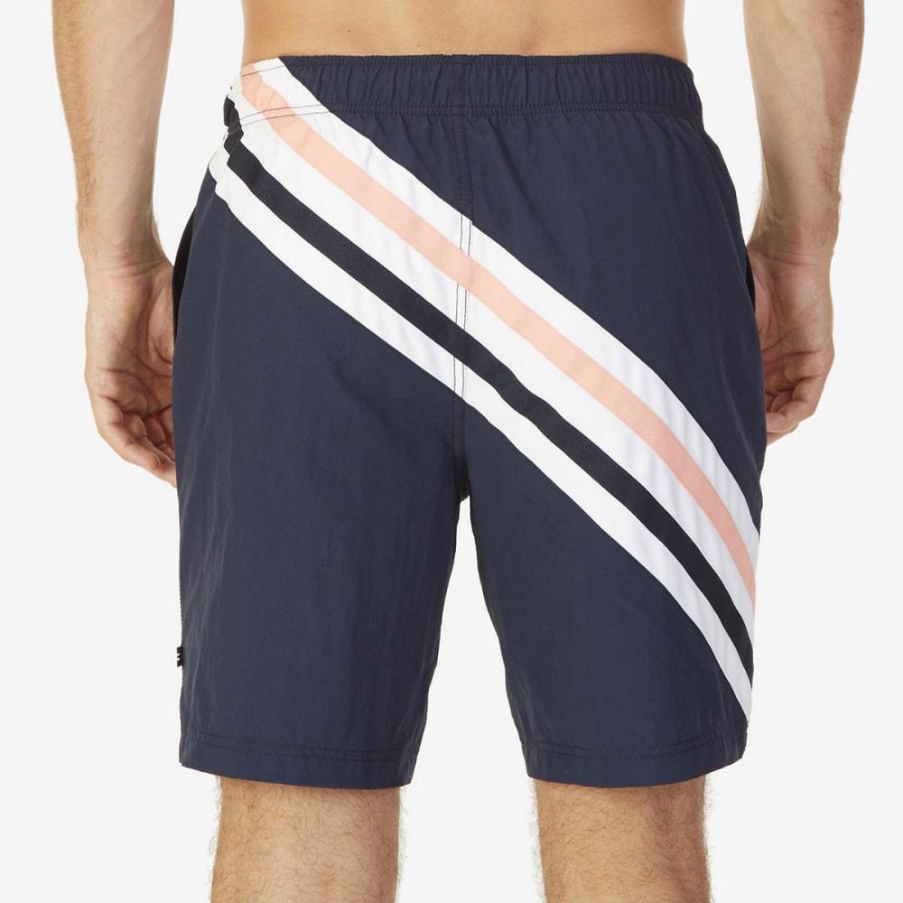 NAUTICA Men's Quick-Dry Striped Swim Trunks - NAVY-4NV